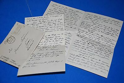 1918 World War, German Captain Field Post Vintage old Letter WWI, Antique L85
