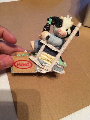 """Mary's Moo Moos Coca-Cola """"Sit Long, Laugh Often, Drink Coke"""" Box Included"""