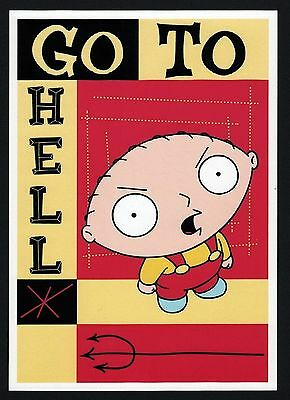 40x Family Guy, Stewie: Go To Hell - Postcard (Lot of 40 Postcards)
