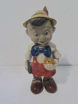 Vintage Pinocchio Disney Character Clock Work Doll Toy