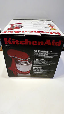 Nob Kitchenaid Ice Cream /sorbet Maker Stand Mixer Attachment -Kicaowh -Fits All