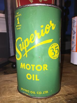 Full Canadian Imperial Quart of Superior (Irving Oil) Motor Oil 35 Cent Can
