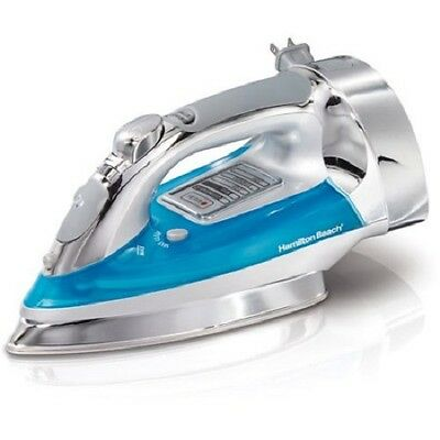 NEW! Hamilton Beach Chrome Electronic Iron with Retractable Cord - MSRP $64.95!