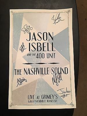 Jason Isbell And The 400 Unit Live At Grimey's The Nashville Sound Signed Poster