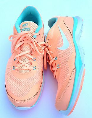 NEW Womens NIKE Flex Trainer 5 Running Shoes Peach/MInt Size 10