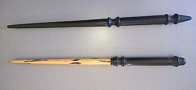 Pair Used Quality Ebony Wood Wands / Wand Wicca Pagan