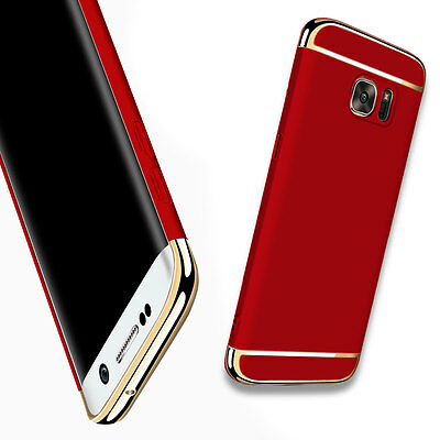 Red Thin Eletroplate Hybrid Hard Slim Back Case Cover For Samsung Galaxy S6 Edge