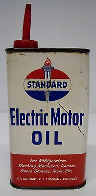 Empty Vintage Standard Oil ELECTRIC MOTOR OIL One Pint Tin Can