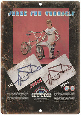 "10"" x 7"" Metal Sign - Hutch BMX Tim Judge Series - Vintage Look Reproduction"