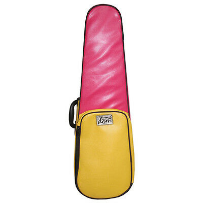 Funky Pink And Yellow Leather - Shaped Violin Case 3/4 Size