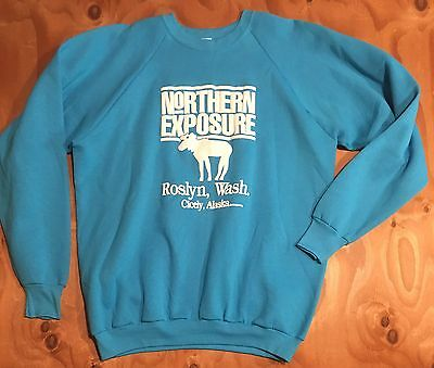 RARE! VTG 1990s NORTHERN EXPOSURE Fruit Of Loom DEADSTOCK Sweatshirt X-large USA