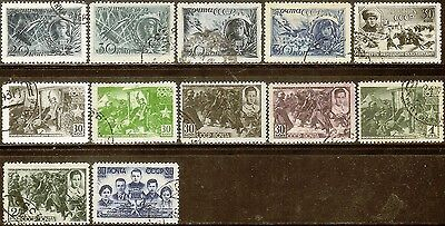Russia,Sc#860-866,915,Heroes(Full Set),CTO and Used,VF