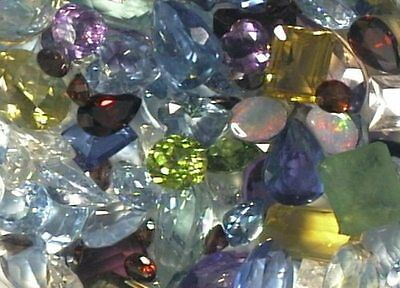 100 Carat Total Weight Man Made Faceted Gemstones