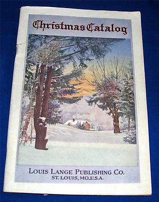 Vtg 1930S Louis Lange Xmas Catalog - German Erzgebirge Toys, Villages, Ornaments