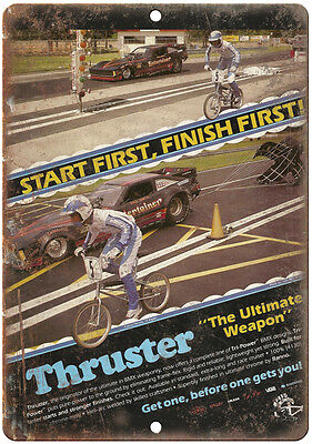 "Thruster BMX - 10"" x 7"" Metal Sign - Vintage Look Reproduction"
