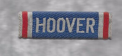 Hoover --Cloth  Covered  Bar  Lapel Pin