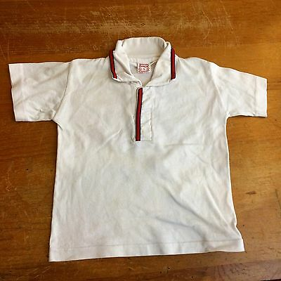 Buster Brown Boys 4T Vintage 50s Cotton Polo Shirt