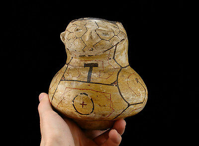 EARLY SHIPIBO EFFIGY POT  PERUVIAN POTTERY with HUMAN FACE