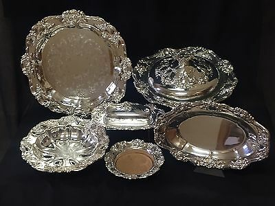 Towle OLD MASTER Silverplate Serving Dishes - Trays Covered Casserole Bowl 6 Pcs