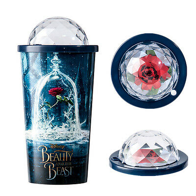 Beauty and The Beast Enchanted Rose Sipper Drinking Cup Travel Cup Souvenir Gift