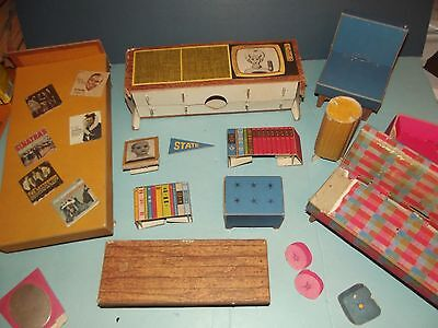 Vintage Barbie Doll Dream House Furniture Lot