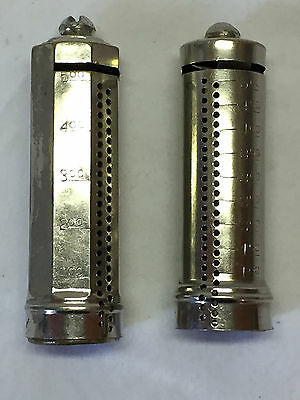 Two Vintage Dime Coin Bank Cylinders B&R Mfg. Co. New York Patent 97919