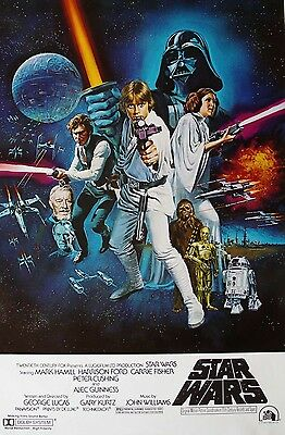 Retro Star Wars Movie Poster Fridge Magnet