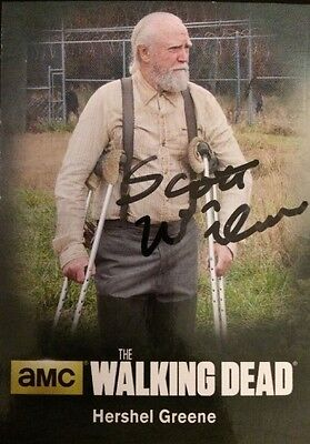 The Walking Dead Autographed Scott Wilson As Hershel Greene Card, Cryptozoic