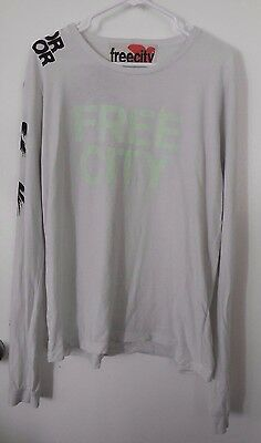"FREE CITY 100% Cotton ""Life Nature Love"" L/S Shirt Top ~ Adult XL"