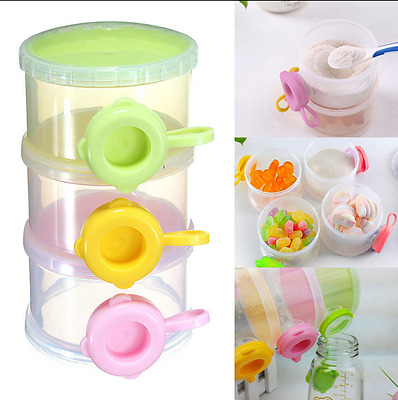 3 Layers Baby Milk Powder Formula Dispenser Feeding Storage Separated Case Box