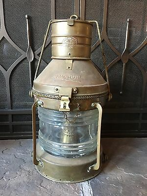 R. C. Murray & Co. Glasgow Antique Copper & Brass Ship's Lantern Nautical