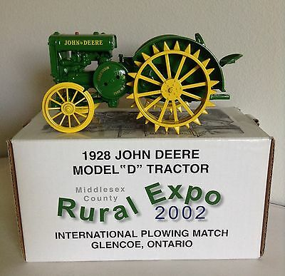 John Deere Model D Tractor 2002 Plowing Match Rural Expo Ontario NIB ERTL 1/16