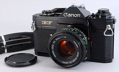 Exc+++++ Canon EF 35mm SLR Vintage Film Camera Body w/N FD 50mm f/1.8 From Japan