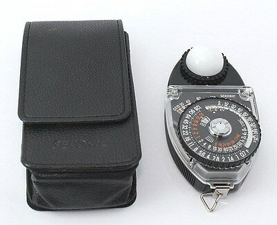 N MINT Sekonic Studio Deluxe II Photography Light Meter L-398M w/Case from Japan