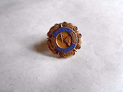 Vintage Lincoln Mercury Automobile Employee Gold Filled Lapel Pin