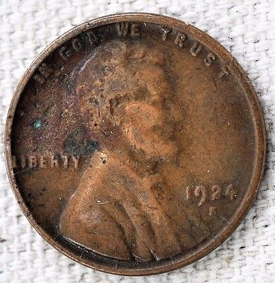 1924 S 1c Lincoln Wheat Cent Pennies VG - Very Good