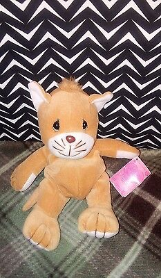 Precious Moments Tender Tails Brown Kitty Cat Plush 8""