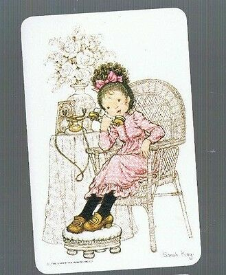 Playing Cards *swap Cards *1 Vintage 70's Sarah Kay Pretty Little Girl Blank / B
