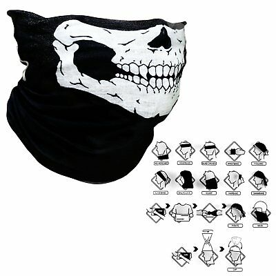 Cool Tubular Skull Mask Bandana Motorcycle Biker Sport Scarf Face Neck Warmer