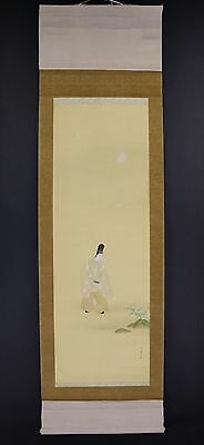 JAPANESE HANGING SCROLL ART Painting  Asian antique  #E5884