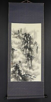 CHINESE HANGING SCROLL ART Painting Sansui Landscape Asian antique  #E5866