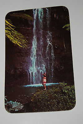 Ultra Rare United Airlines Tahitian Waterfall Postcard Mint Plastichrome
