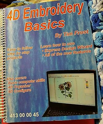 4D Embroidery Basics Tim Frost Book Easy to Follow Step by Step Projects 413000