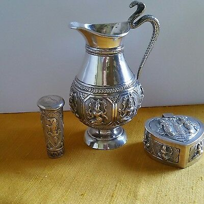 antique anglo indian silver