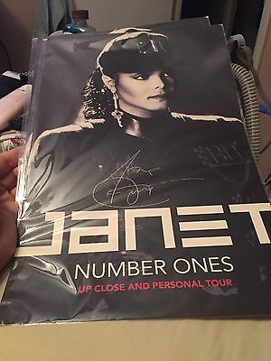 Janet Jackson Signed Poster 2 For 1 Price