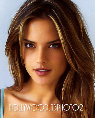 ALESSANDRA AMBROSIO 8x10 Lab PHOTO Glossy Portrait Print Hollywood Celebrity