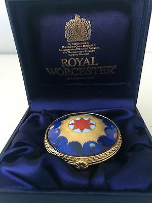 ROYAL WORCESTER Bone China MILLENNIUM themed TRINKET BOX in Presentation Box