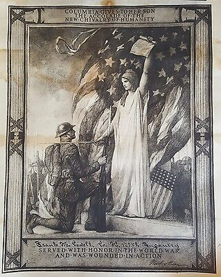 WW1 US Presidential Wound Certificate 127 Infantry.