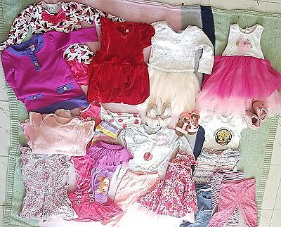 Baby girls clothes ,party dresses and shoes size 0 and 1