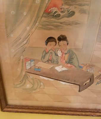 Antique Japanese Painting on Silk, Exquisite